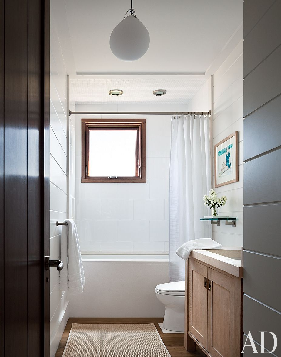 Beach Bathroom by Foley & Cox and Frank Greenwald in Sag Harbor, New York