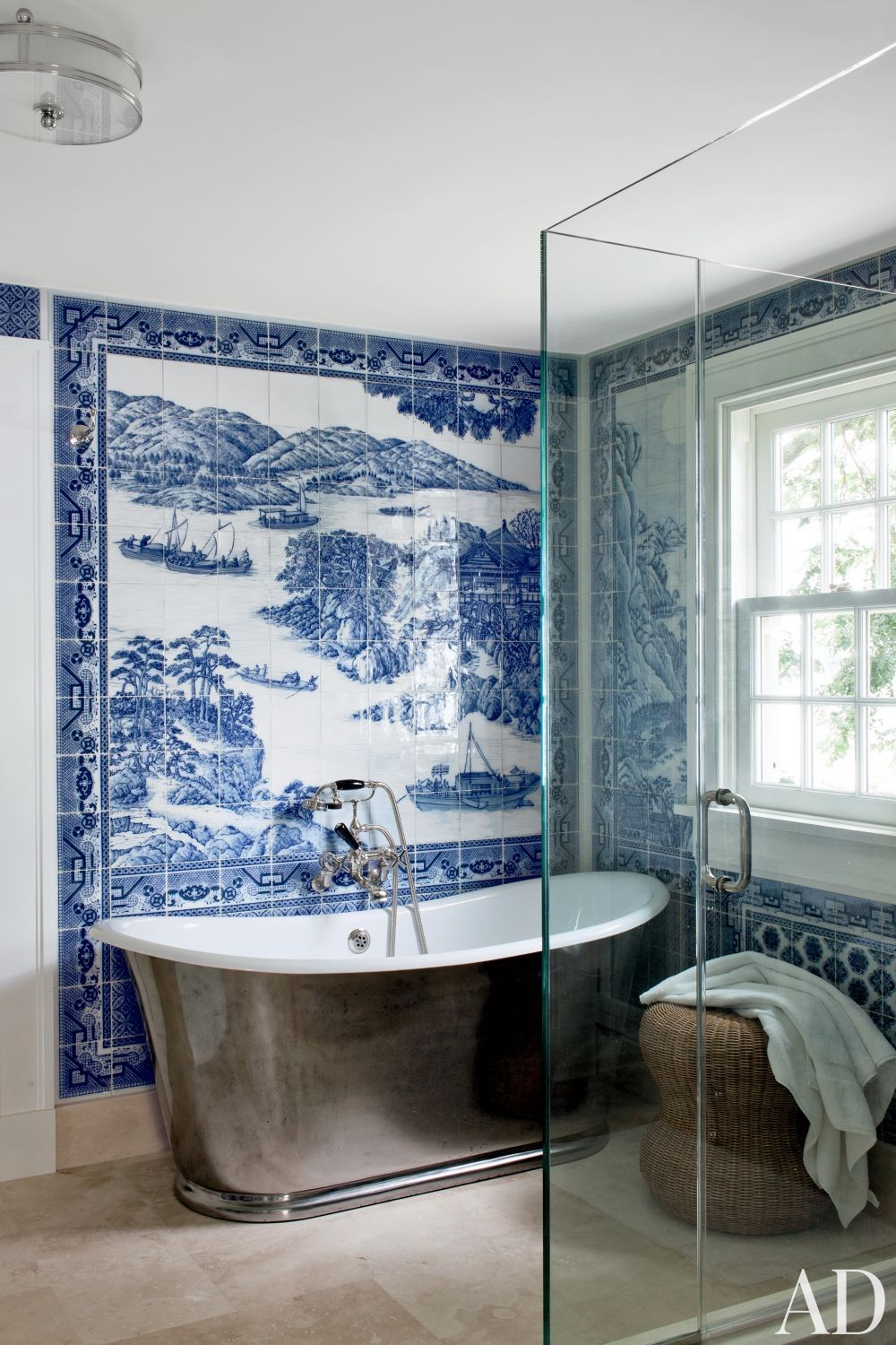 Beach Bathroom By Piccione Architecture Design By Architectural Digest Ad Designfile Home