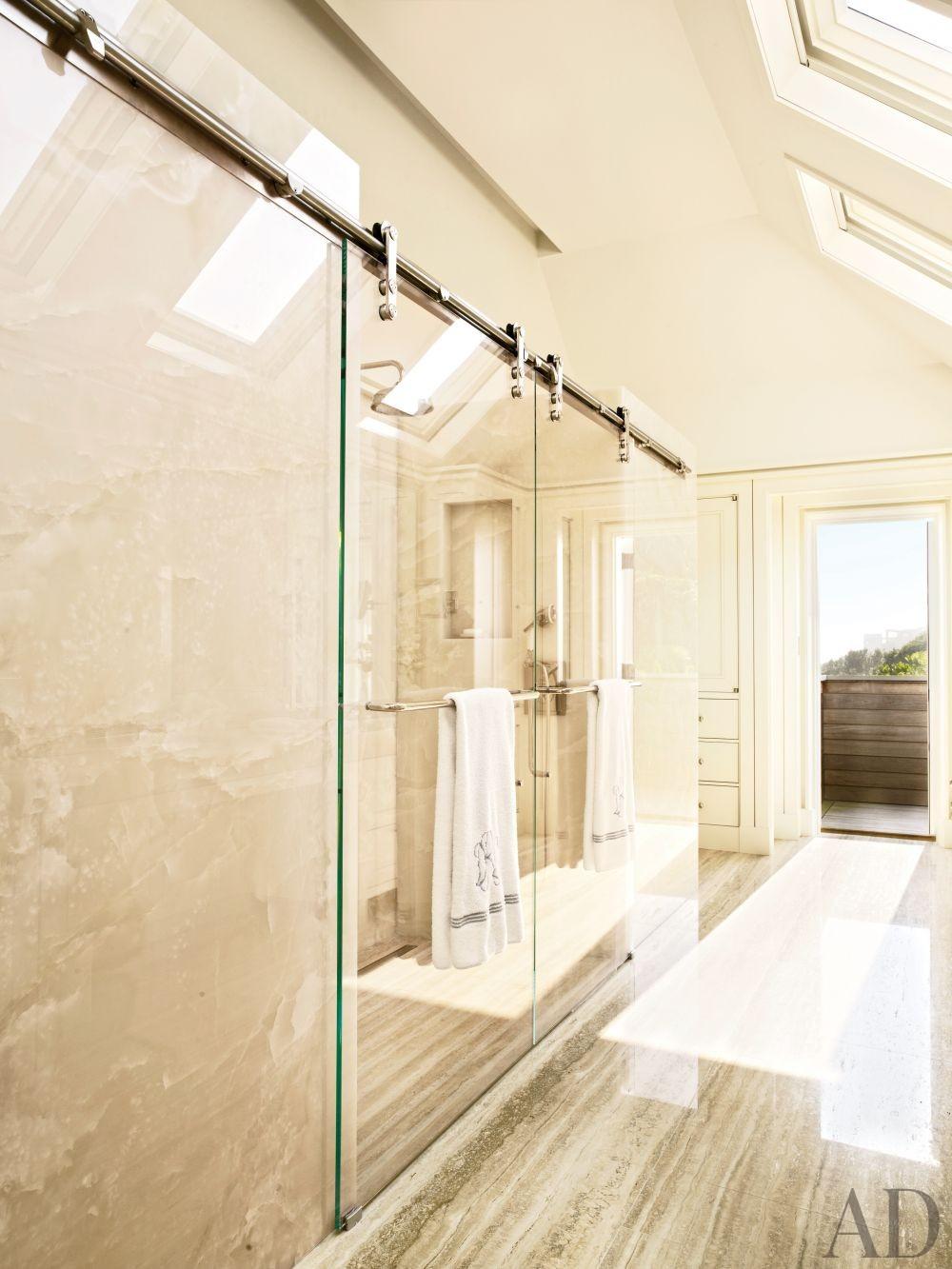 Beach Bathroom by Thierry Despont Ltd. and Thierry Despont Ltd. in East Hampton, New York