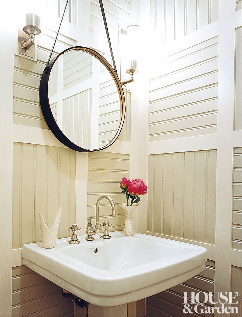 beach bathroom by thom filicia inc by architectural digest ad designfile home decorating. Black Bedroom Furniture Sets. Home Design Ideas