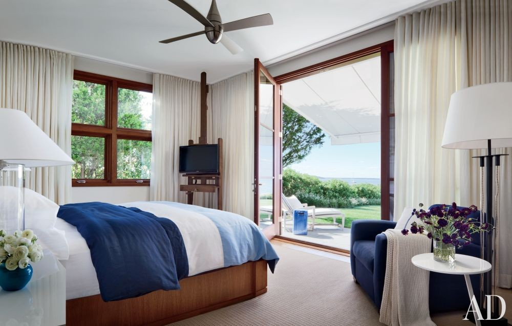 Beach Bedroom by Foley & Cox and Frank Greenwald in Sag Harbor, New York