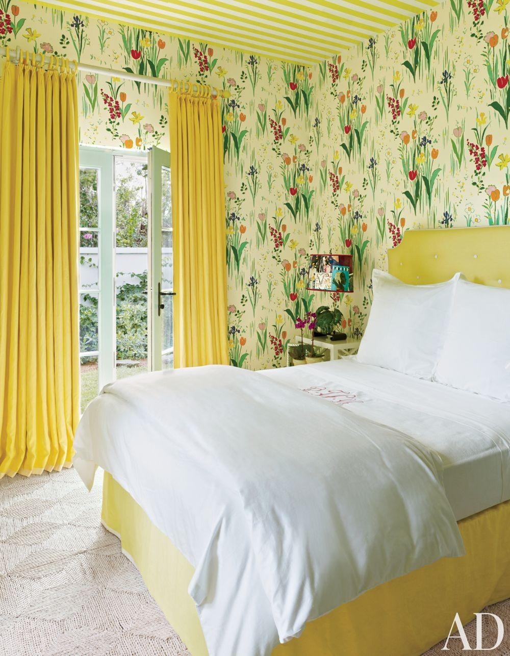 Beach Bedroom by Miles Redd in Lyford Cay, Bahamas