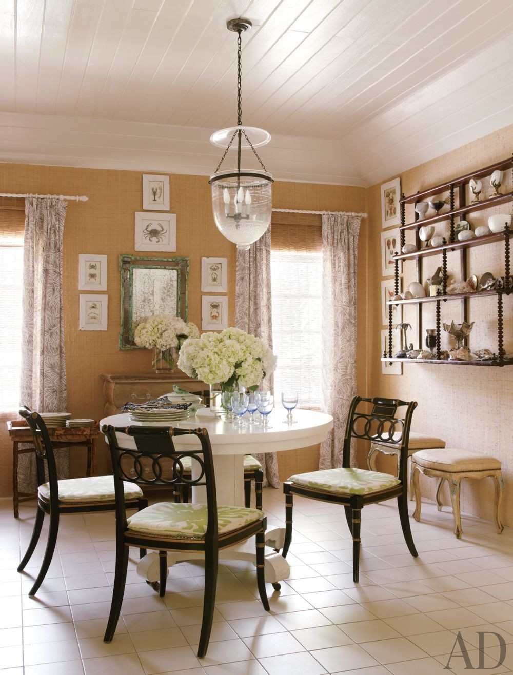 Beach dining room by andrew raquet interior design by for Beachy dining room ideas