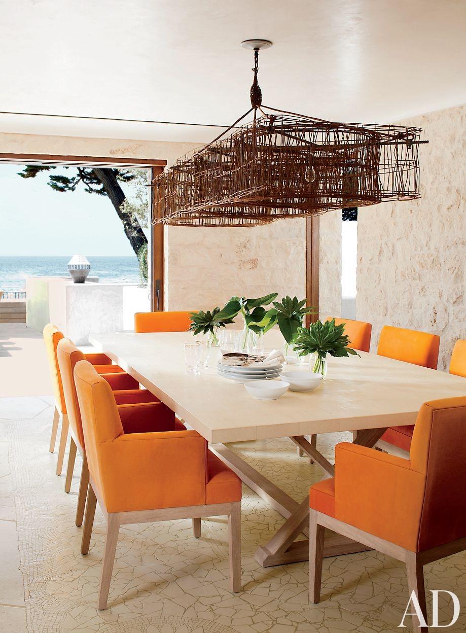 Beach Dining Room by Atelier AM and KAA Design in Laguna Beach, California