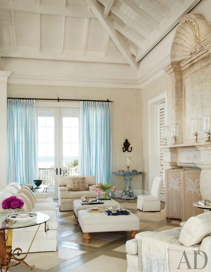 Beach Living Room by John Stefanidis Brands Ltd. and Clemens Bruns Schaub Architect & Associates in Windsor, Florida