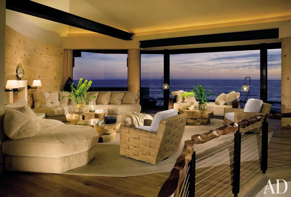 The Living Room La Jolla : Beach Living Room by London Boone by Architectural Digest ...