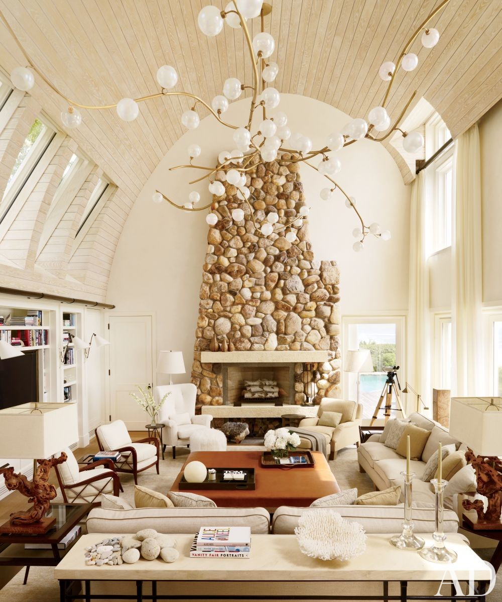 Beach Living Room by Thierry Despont Ltd. and Thierry Despont Ltd. in East Hampton, New York