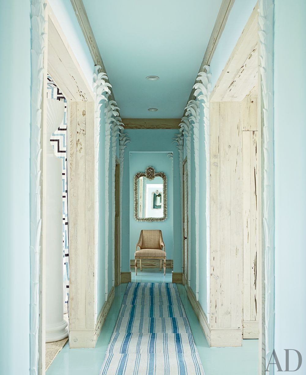 Beach Staircase/Hallway by Miles Redd in Lyford Cay, Bahamas