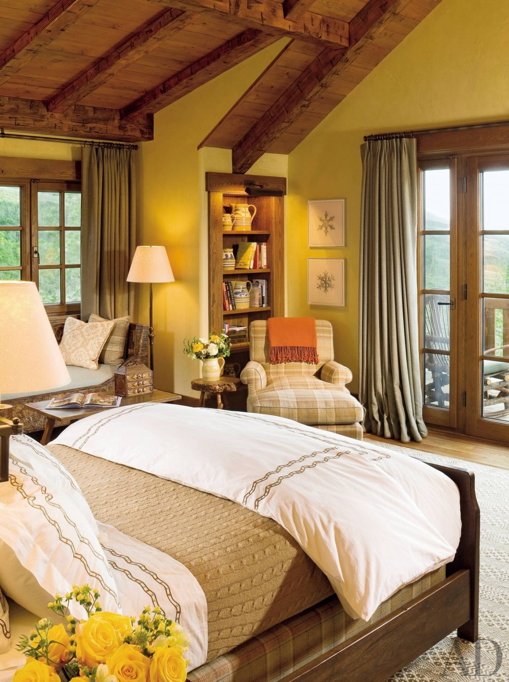 Bedroom by Cullman & Kravis and Resort Design Architects in Colorado