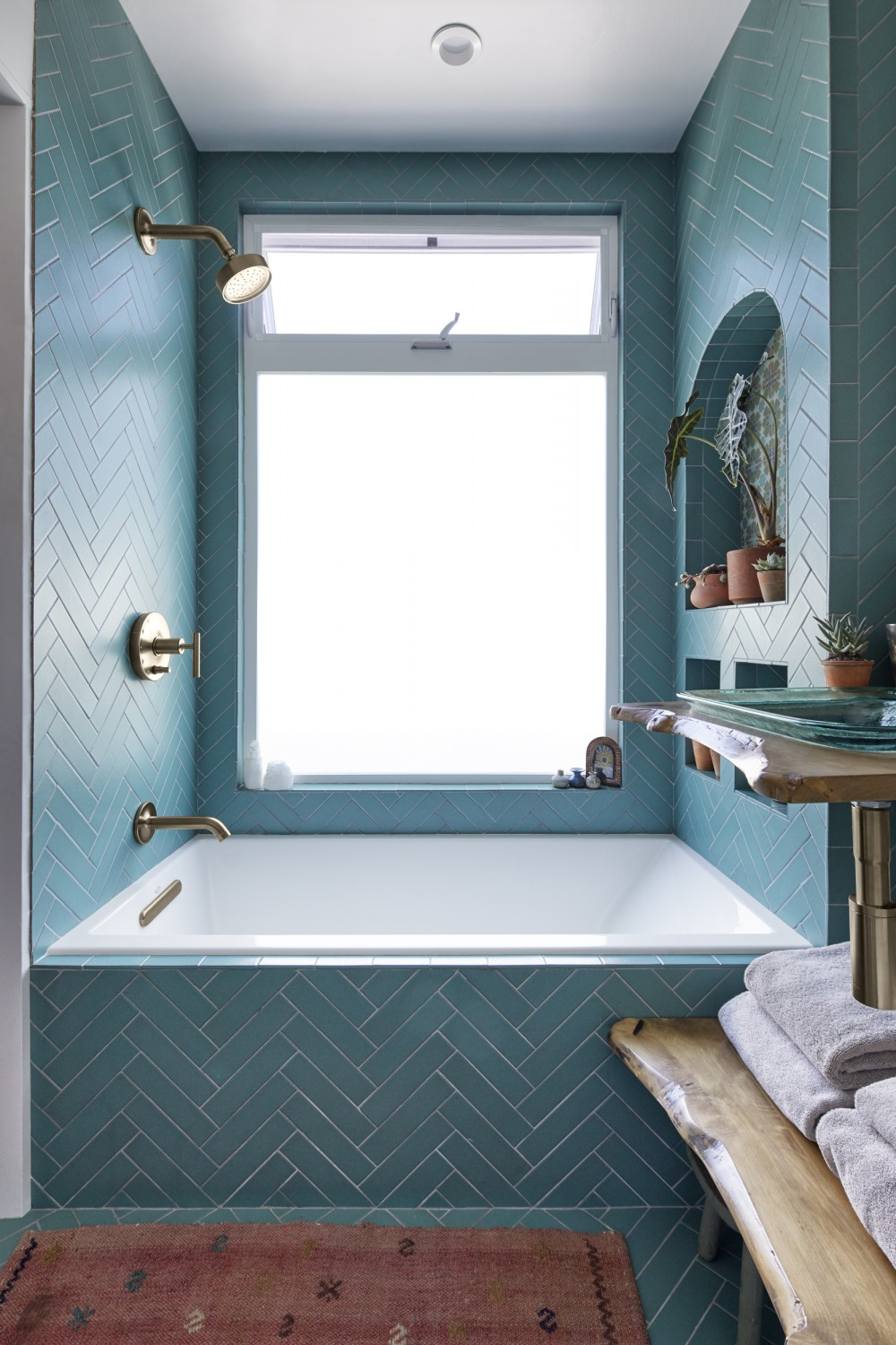 Bohemian Blue Bathroom Kohler Ideas