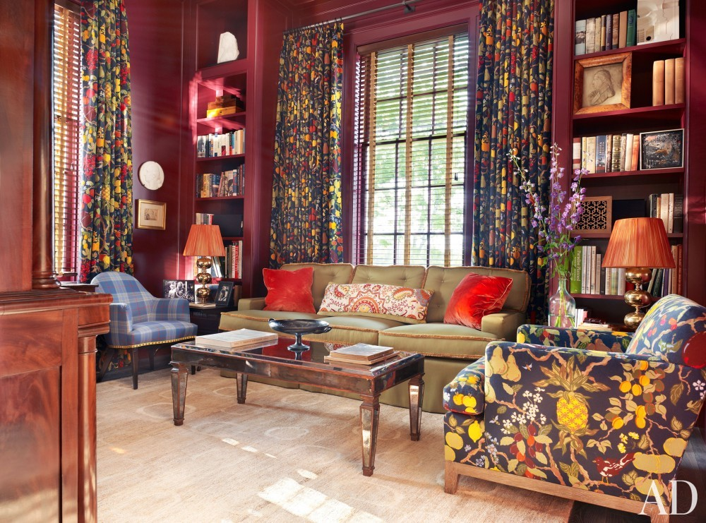 Traditional Office/Library by Katie Ridder and Peter Pennoyer in Millbrook, NY