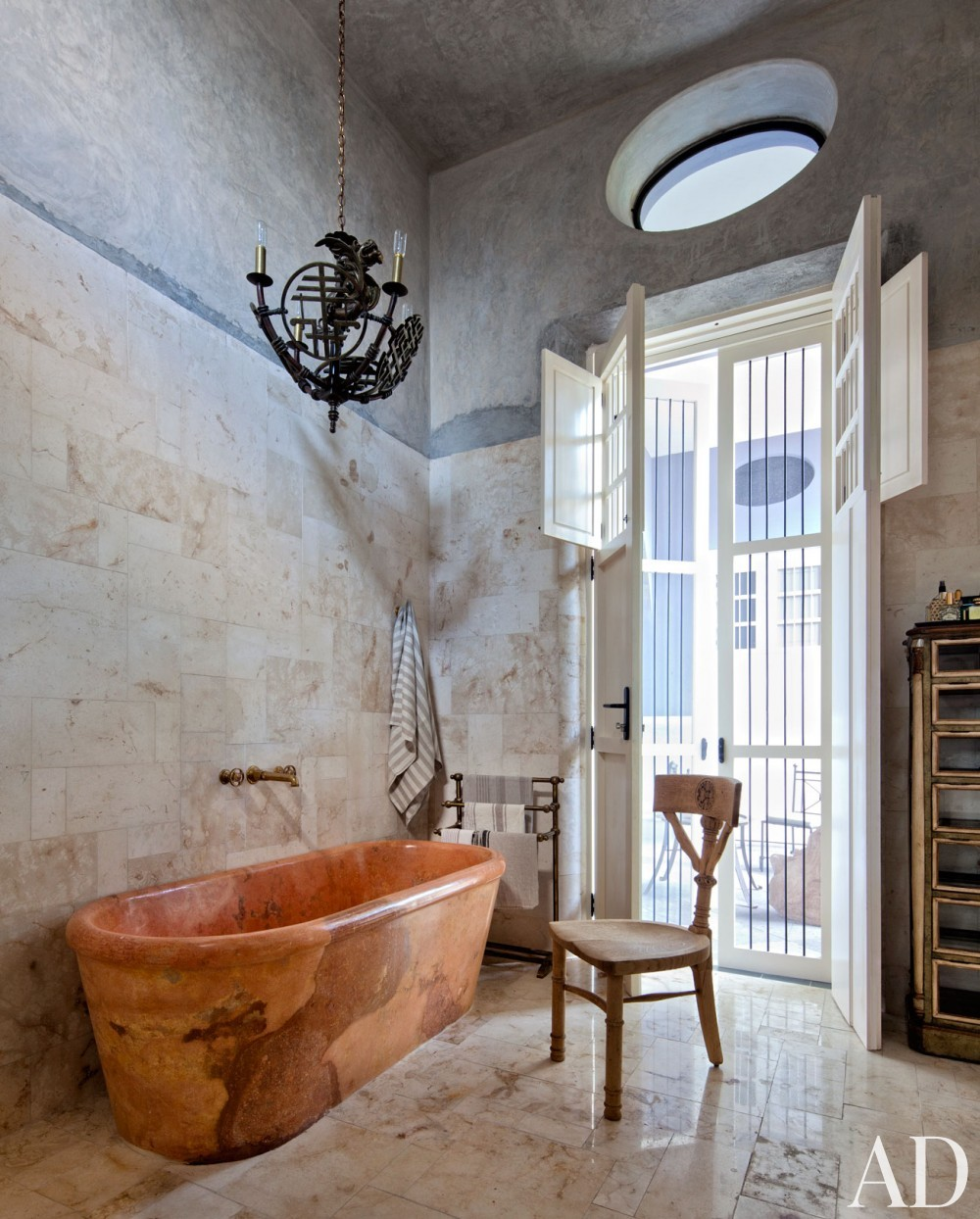 Exotic Bathroom by Robert Willson and David Serrano and Bohl Architects in Merida, Mexico