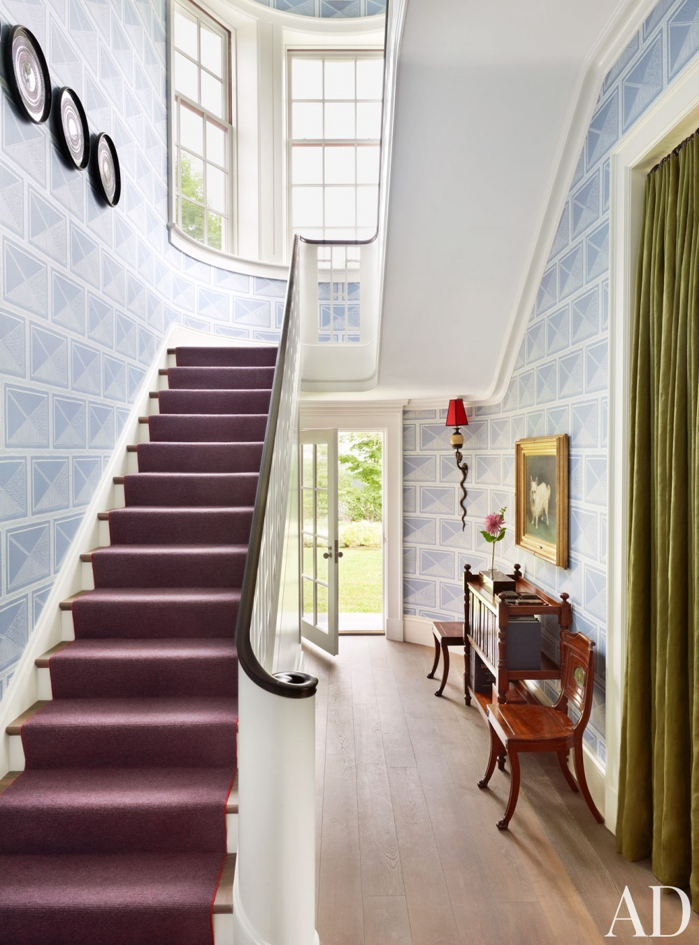 Traditional Staircase/Hallway by Katie Ridder and Peter Pennoyer in Millbrook, NY