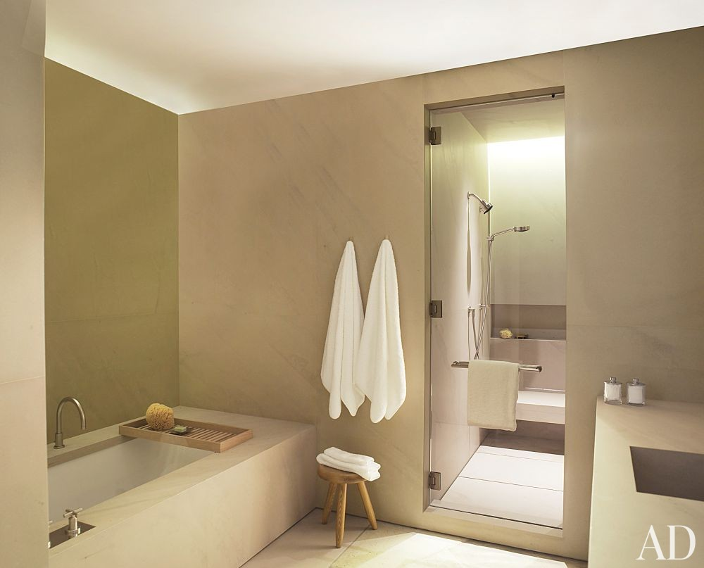 Contemporary bathroom by atelier am by architectural for Modern guest bathroom