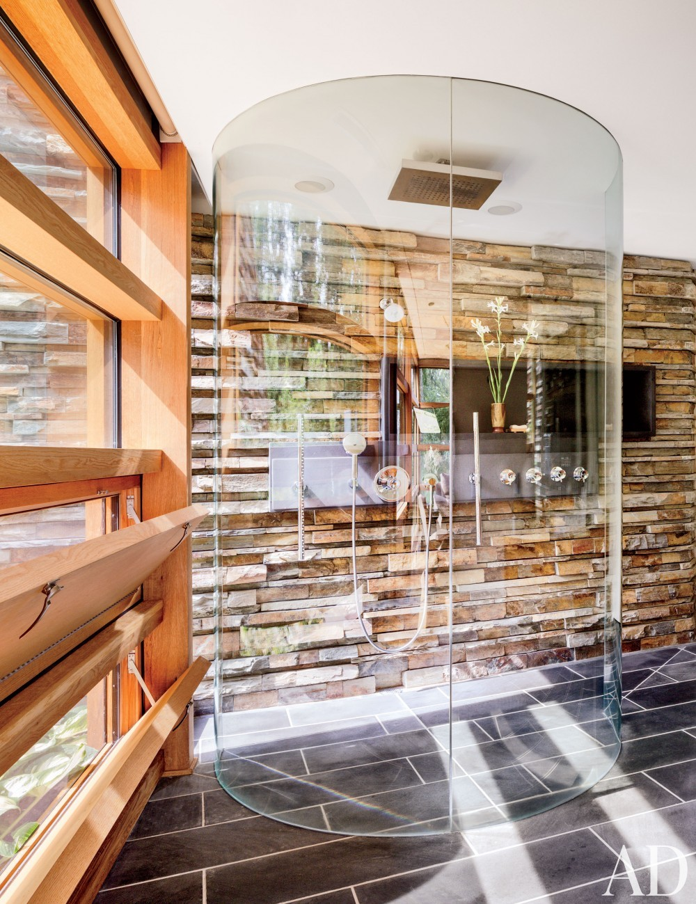 Contemporary Bathroom and Gluck+ in Blue Ridge Mountains, NC