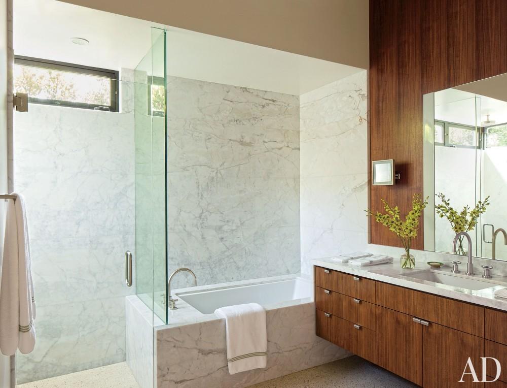 Contemporary Bathroom by Boehm Design Associates and Marmol Radziner in Beverly Hills, California