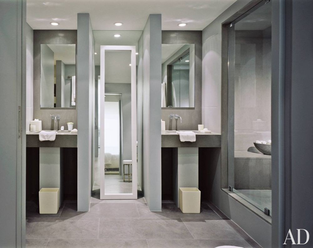 Contemporary Bathroom By Charles Allem By Architectural Digest Ad Designfile Home Decorating