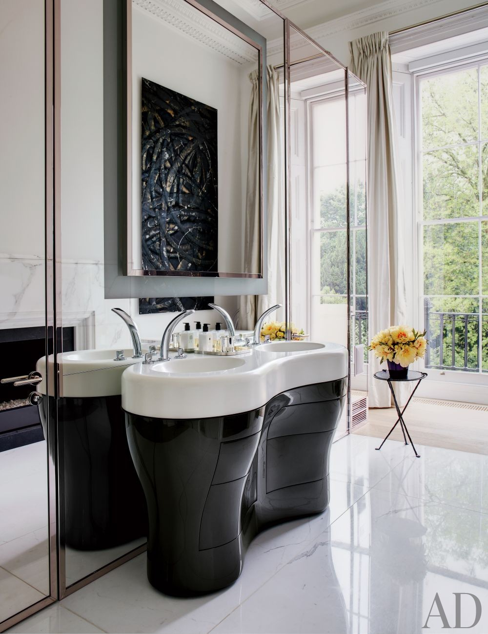 Contemporary Bathroom by Francis Sultana Ltd. and Thomas Croft Architects in London, England