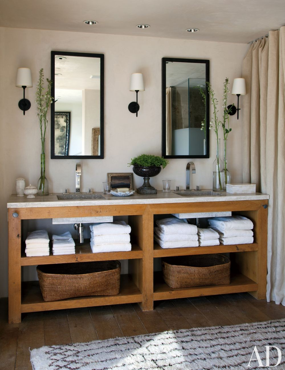 Contemporary Bathroom by Hallberg-Wiseley Designers in Malibu, California