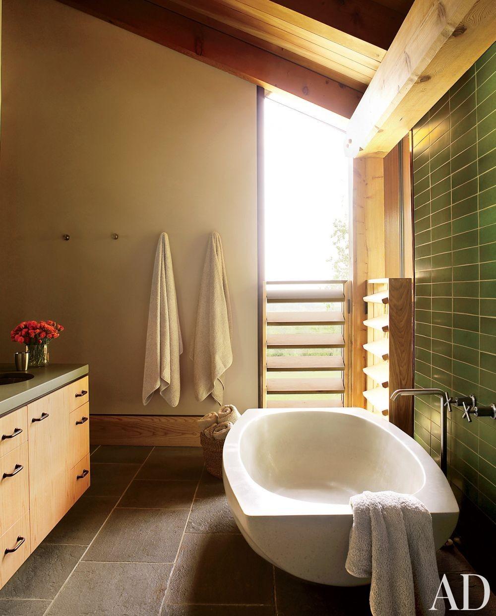 Contemporary Bathroom by Ike Kligerman Barkley Architects in Hudson Valley, New York