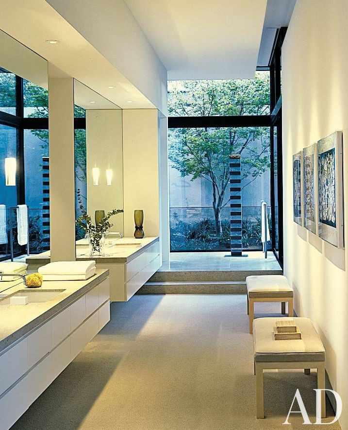 Contemporary bathroom by architectural digest ad for Bath remodel napa ca