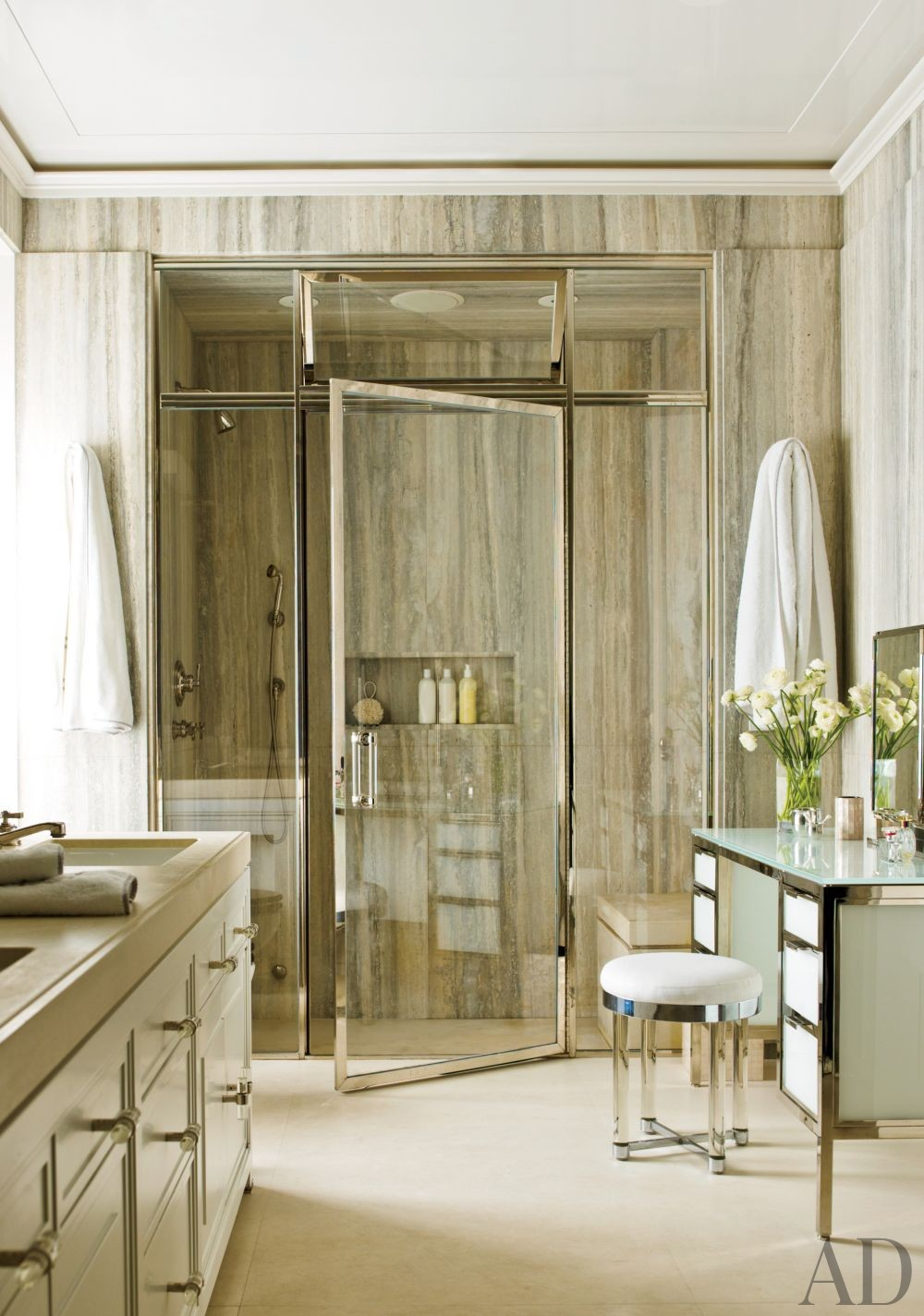 Contemporary bathroom by pamplemousse design by for New york city bathroom decor