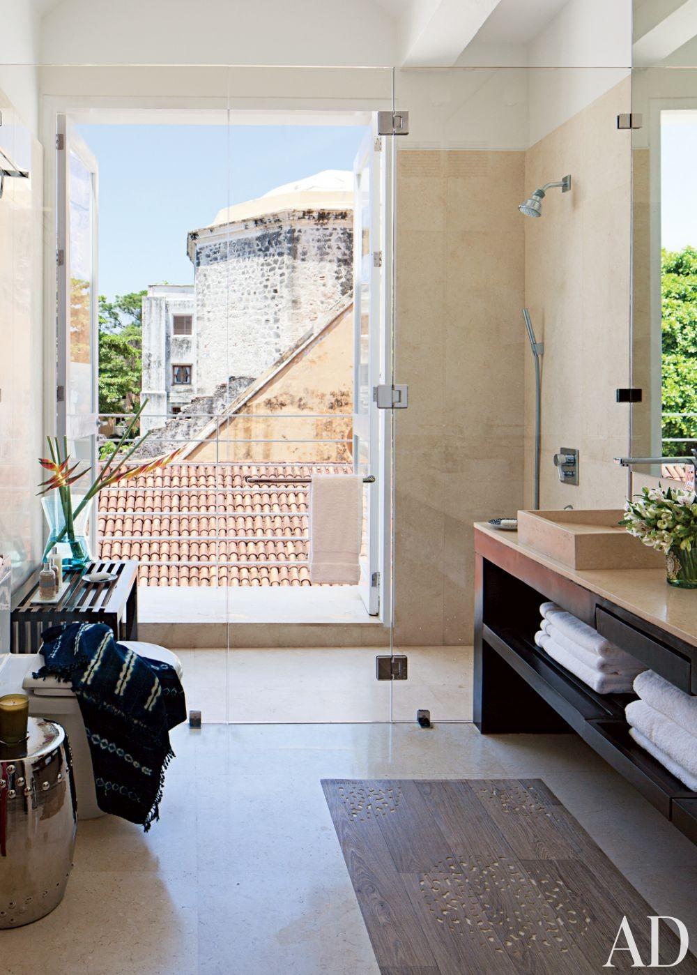 Contemporary Bathroom by Richard Mishaan Design in Cartagena, Columbia