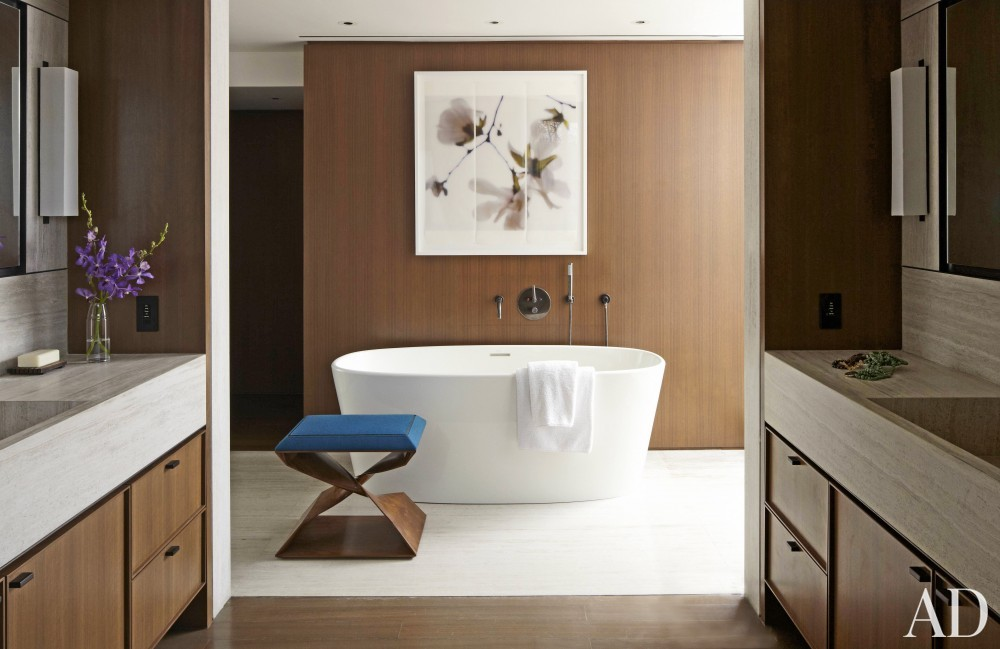 Contemporary Bathroom by S. Russell Groves and S. Russell Groves in New York, New York