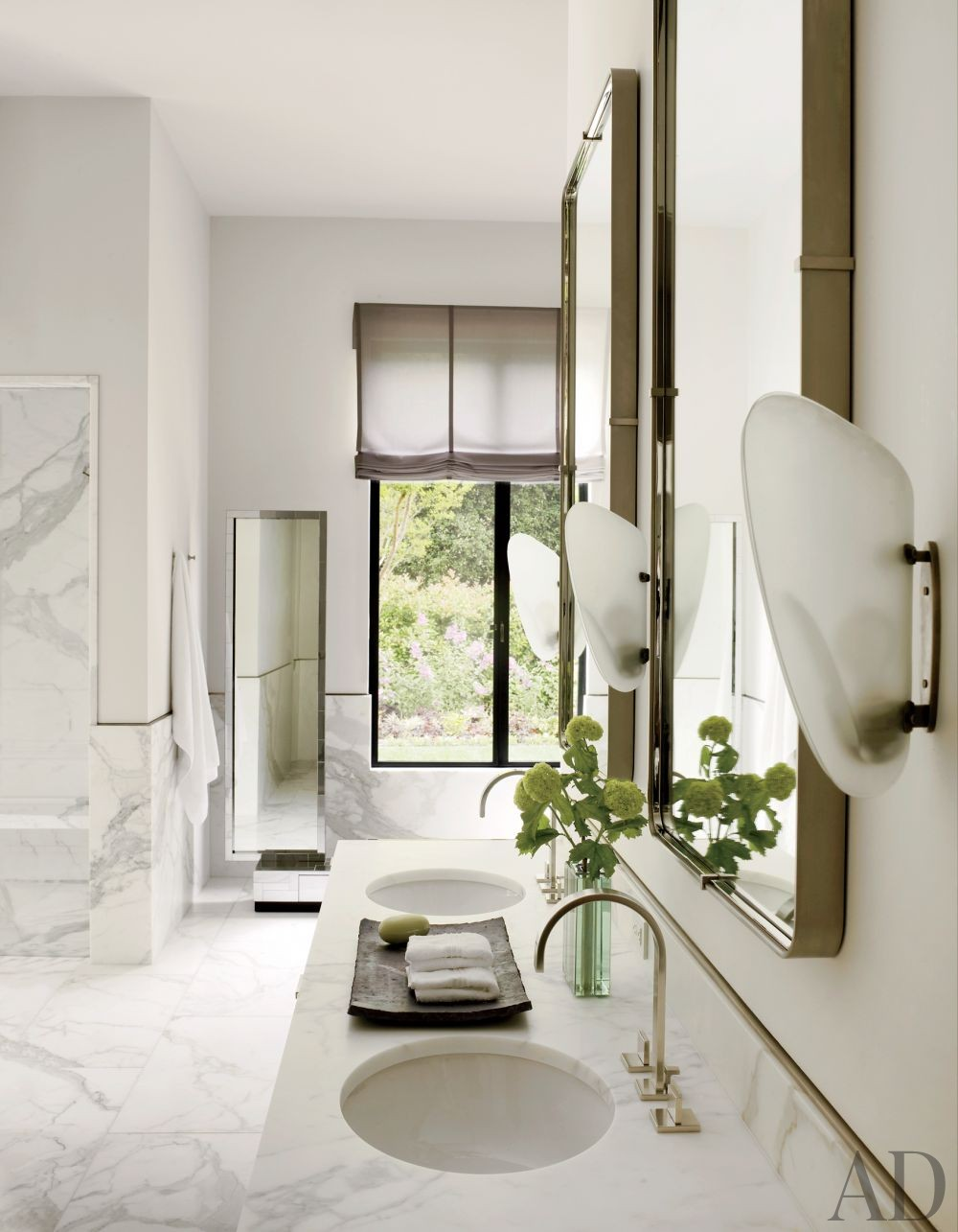 Contemporary bathroom by steven volpe design by for Architectural digest bathroom designs