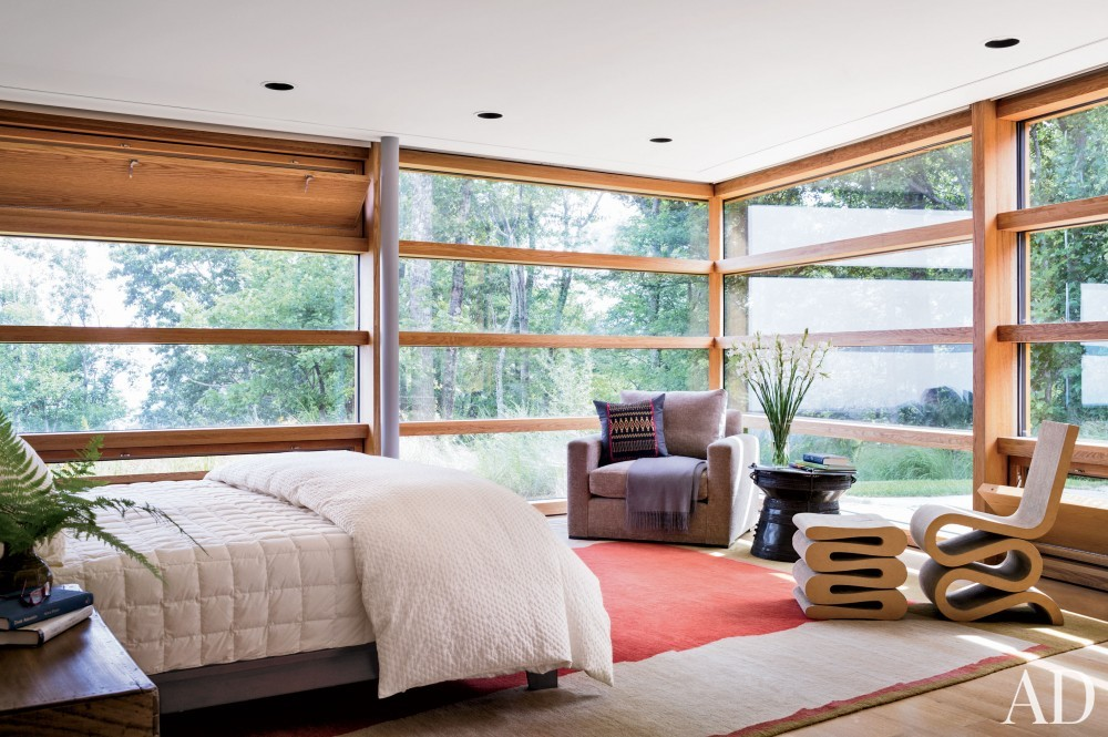 Contemporary Bedroom and Gluck+ in Blue Ridge Mountains, NC