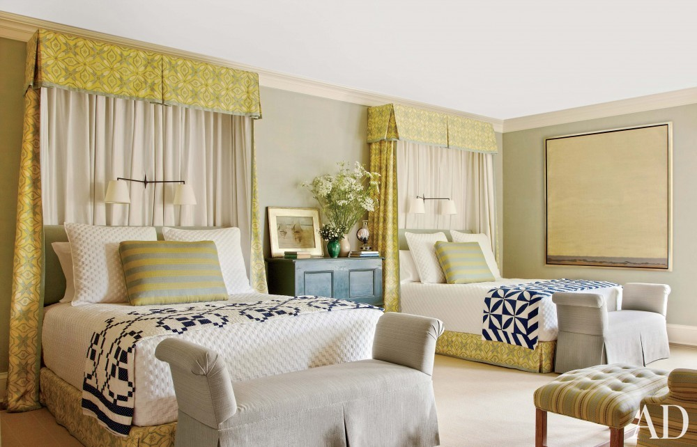 Contemporary Bedroom by Carrier and Company Interiors and John David Rose in Southampton, New York