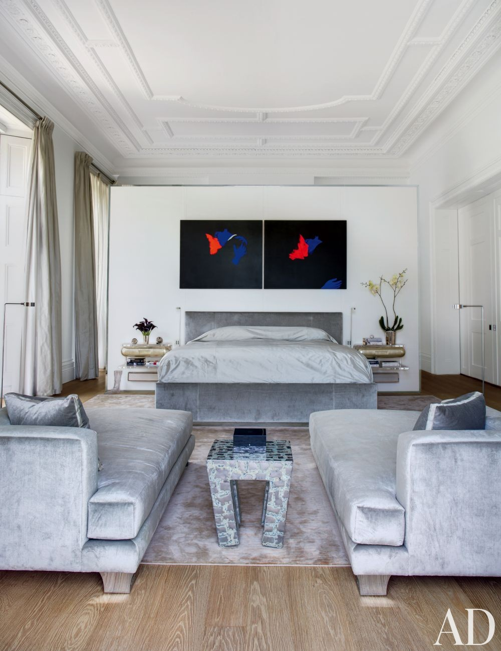 Contemporary Bedroom by Francis Sultana Ltd. and Thomas Croft Architects in London, England