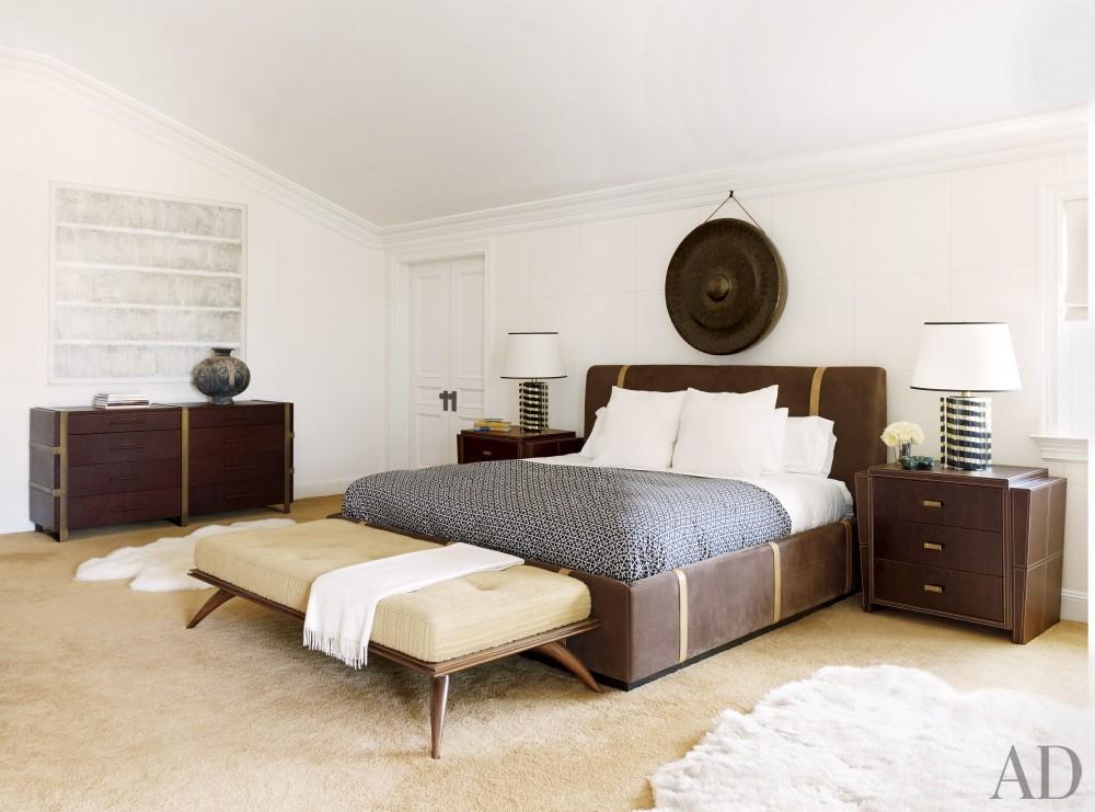 Contemporary bedroom by Juan Montoya Design in Southampton, NY