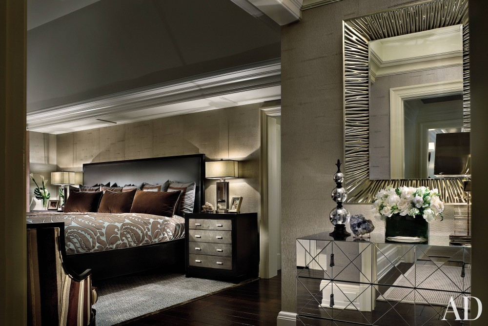Contemporary Bedroom by Martin P. Mitchell and James Paragano in Alpine, New Jersey