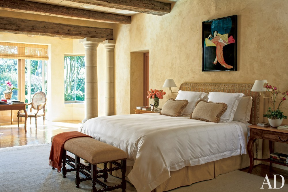 Contemporary Bedroom by Mica Ertegun and Walker & Moody Architects in Sonoma Valley, CA