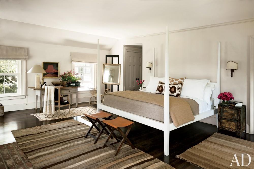 Contemporary Bedroom by Rebecca Bond in Bridgehampton, New York