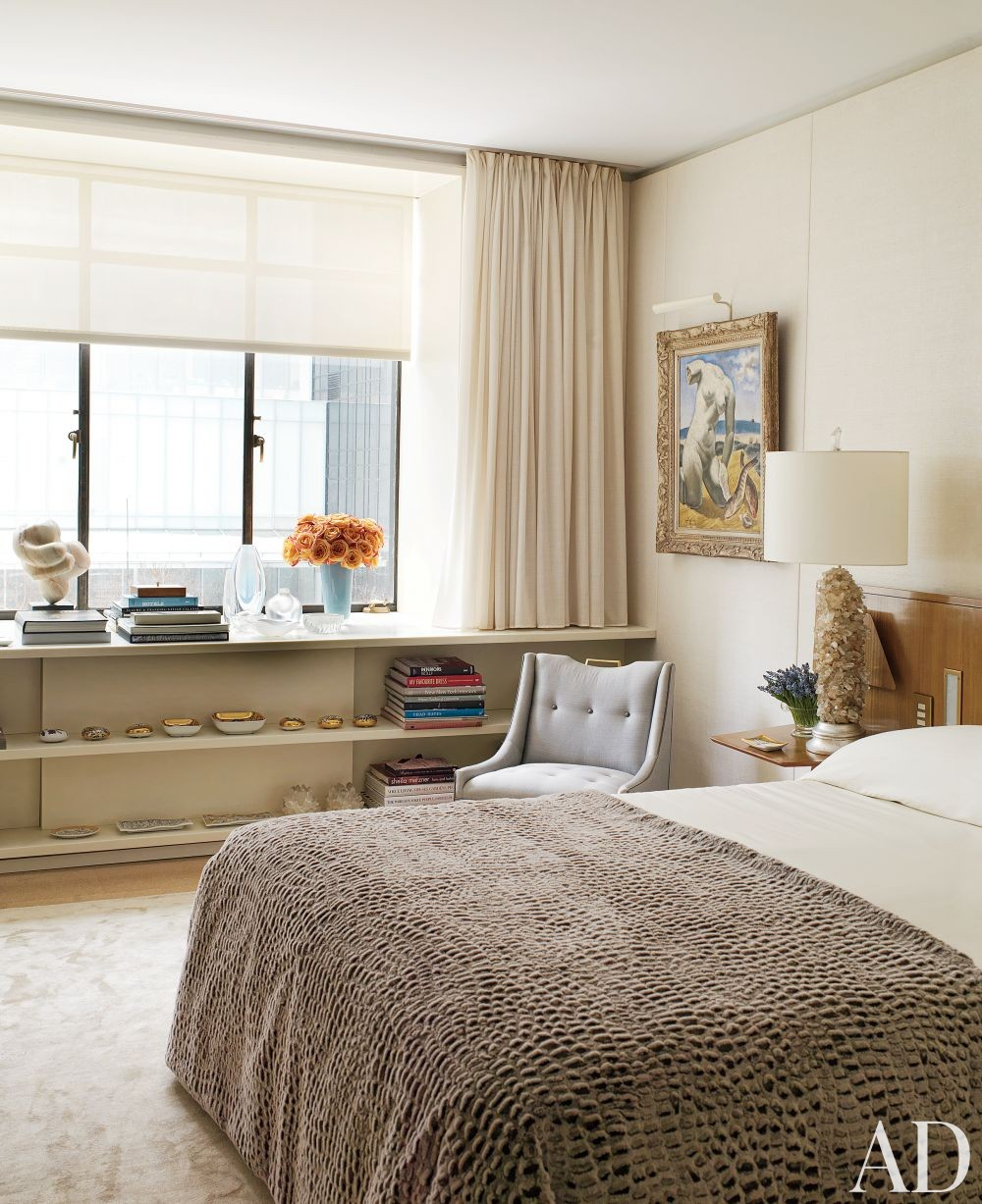 Contemporary Bedroom by Rees Roberts + Partners and Steven Harris Architects in New York, New York