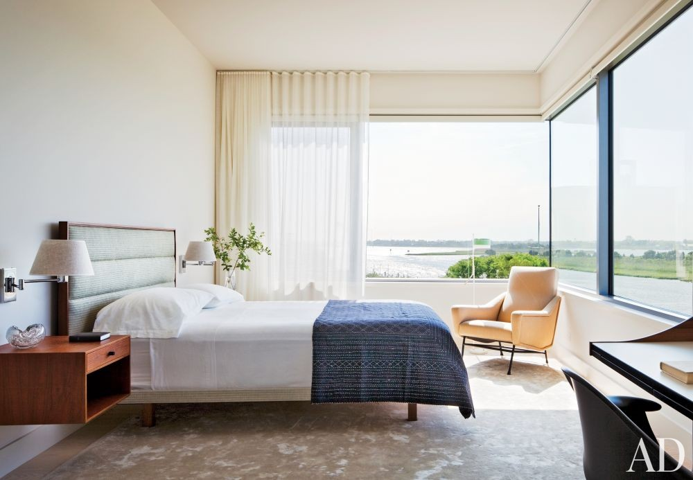 Contemporary Bedroom by Thad Hayes Inc. and Leroy Street Studio in Westhampton, New York