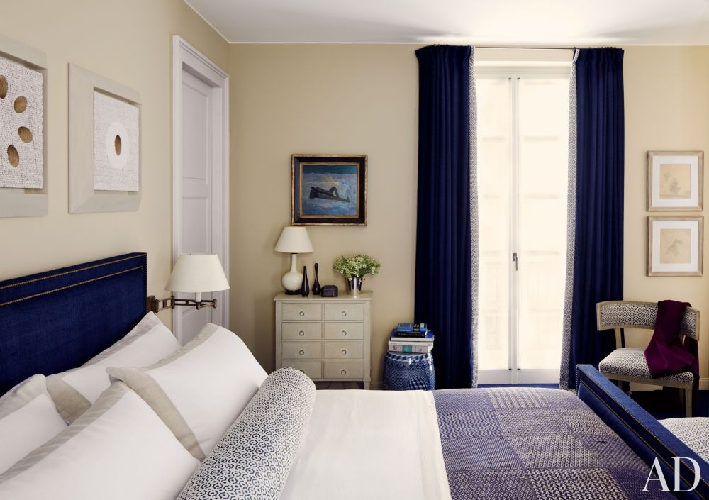Contemporary Bedroom by Timothy Whealon Inc. and Bureau D\'Architecture Marc Corbiau in Monte Carlo, Monaco