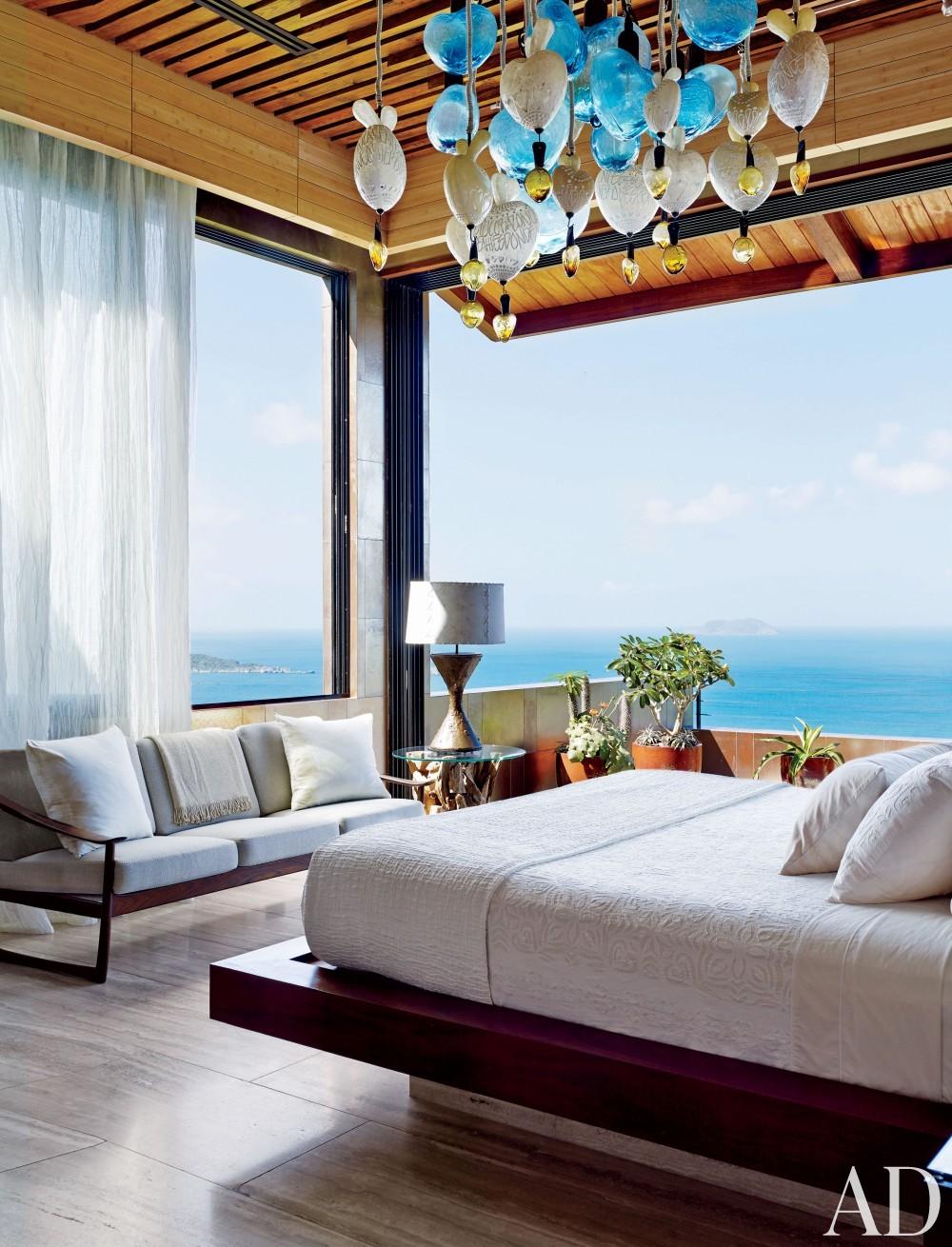 Contemporary Bedroom by Tony Ingrao and Randy Kemper in St. John, U.S. Virgin Islands