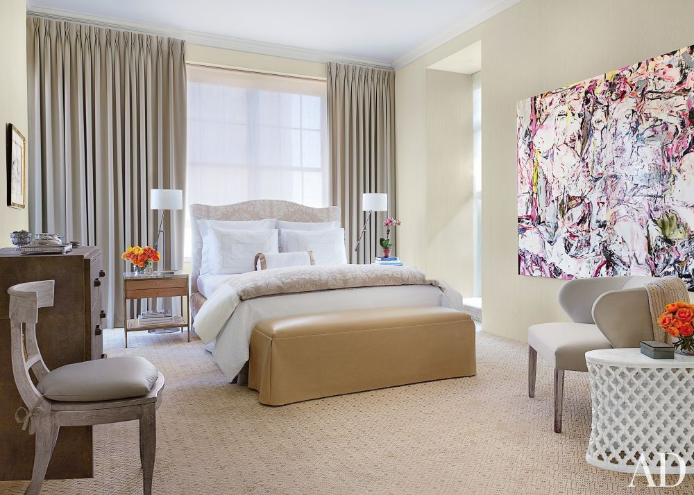 Contemporary Bedroom by Vicente Wolf in New York, New York