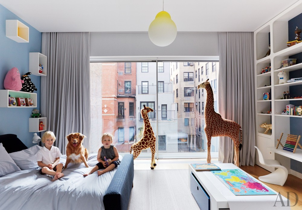Contemporary Children\'s Room by D'Apostrophe Design and Selldorf Architects in New York, New York