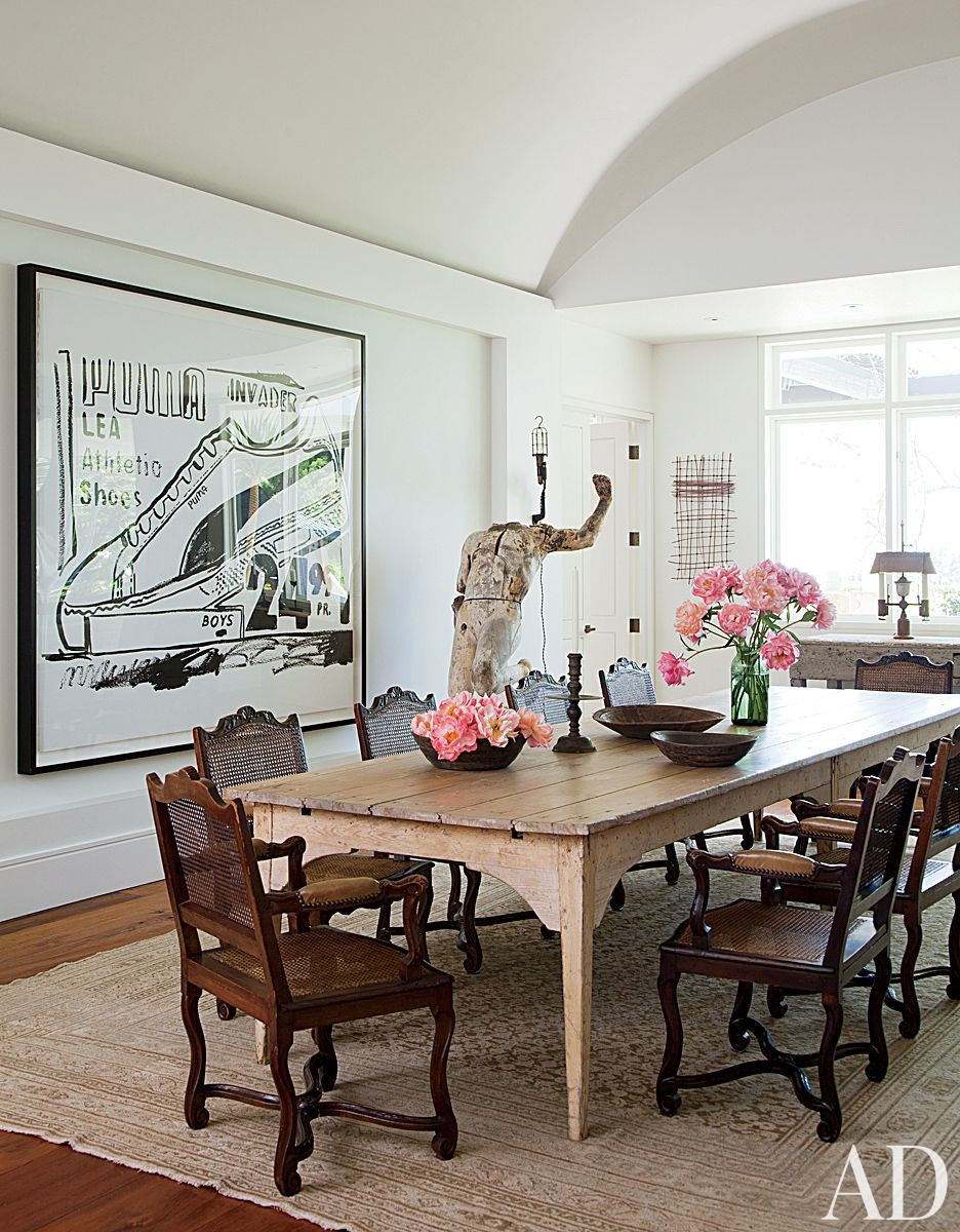 Contemporary Dining Room in Beverly Hills, California