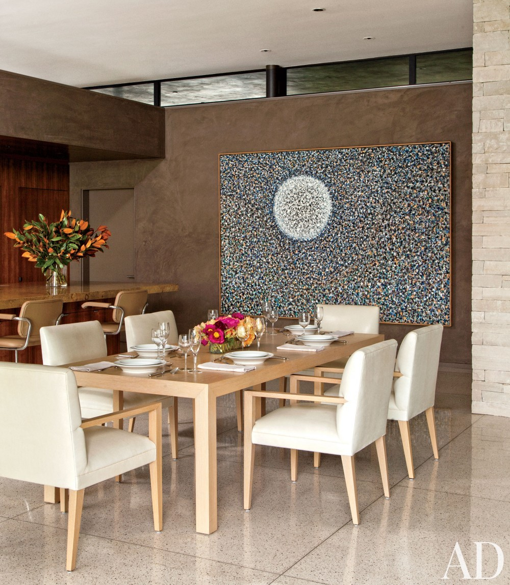 Contemporary Dining Room by Boehm Design Associates and Marmol Radziner in Beverly Hills, California