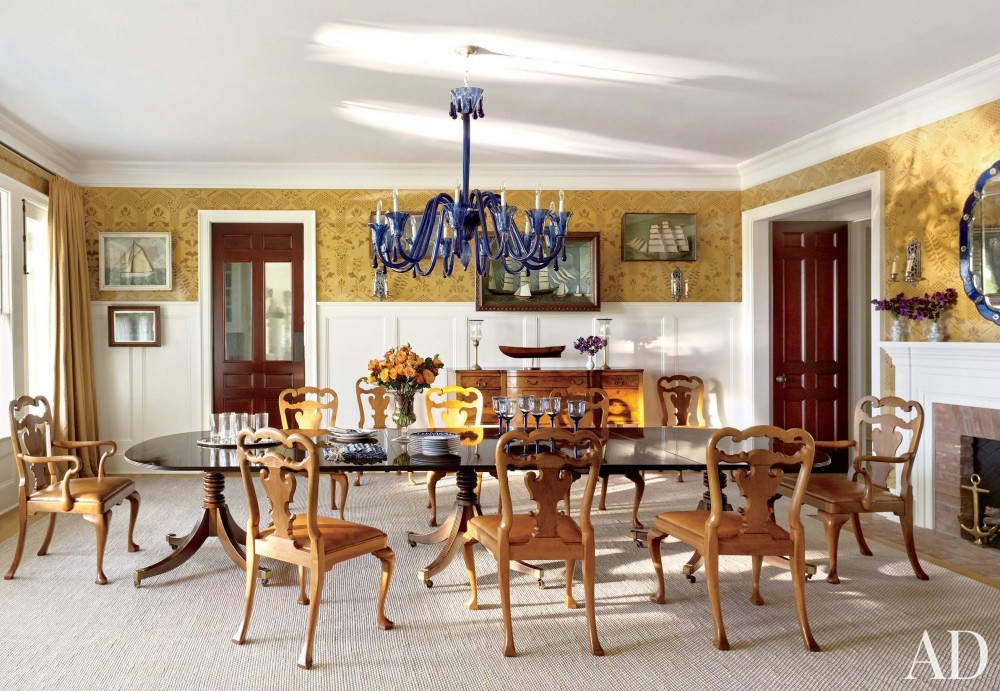 Contemporary Dining Room by Carrier and Company Interiors and John David Rose in Southampton, New York