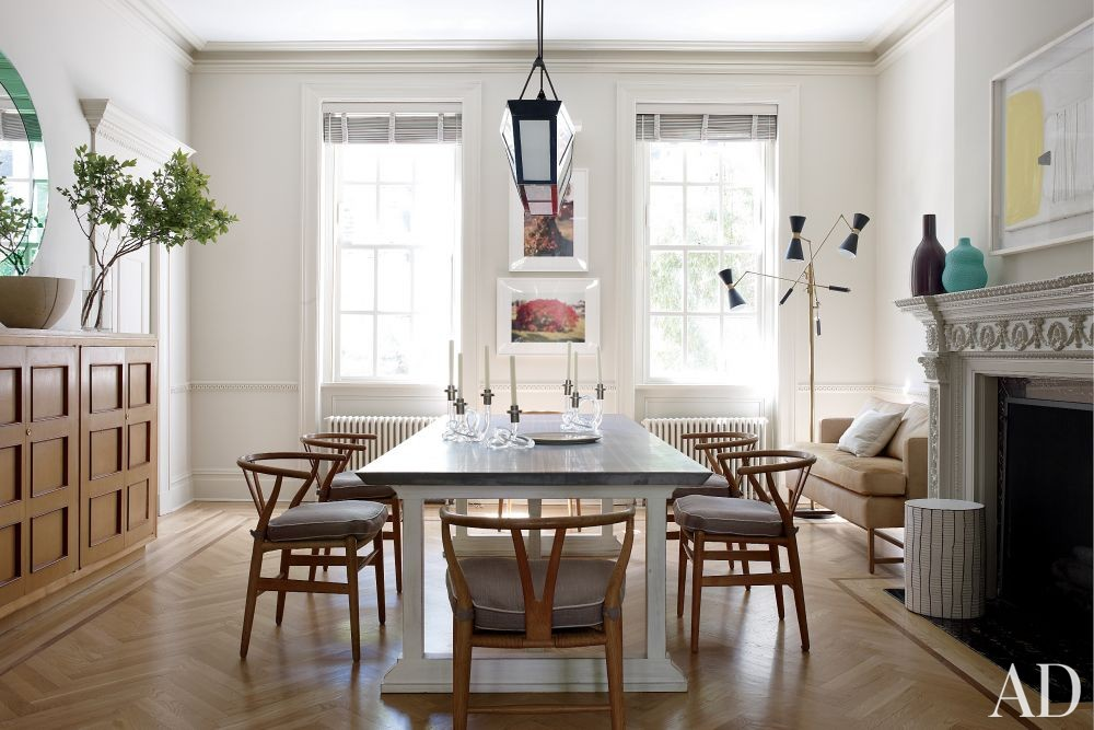 Contemporary Dining Room by Christine Markatos Design and Leroy Street Studio in New York, New York