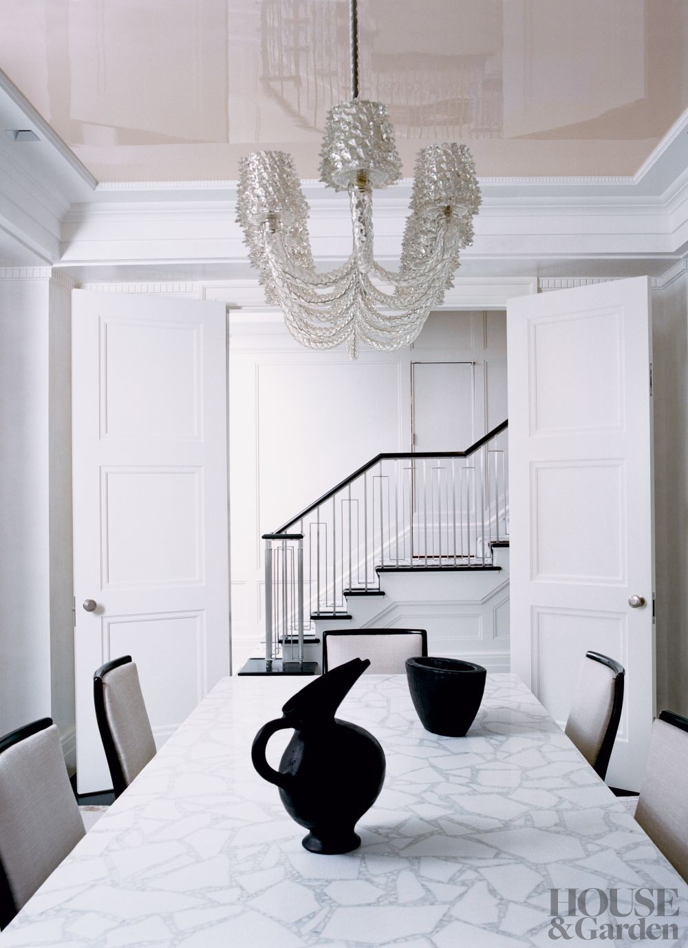 Contemporary Dining Room by Kevin Roberts and Timothy Haynes in New York, New York