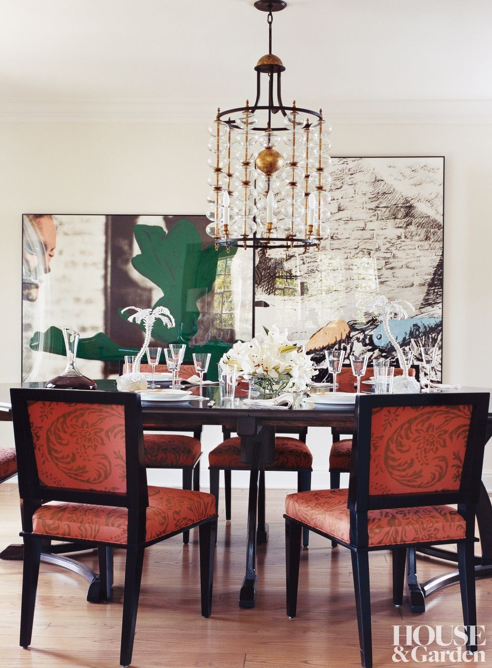 Contemporary dining room by kim alexandriuk interior design by architectural digest ad for Interior designer los angeles ca