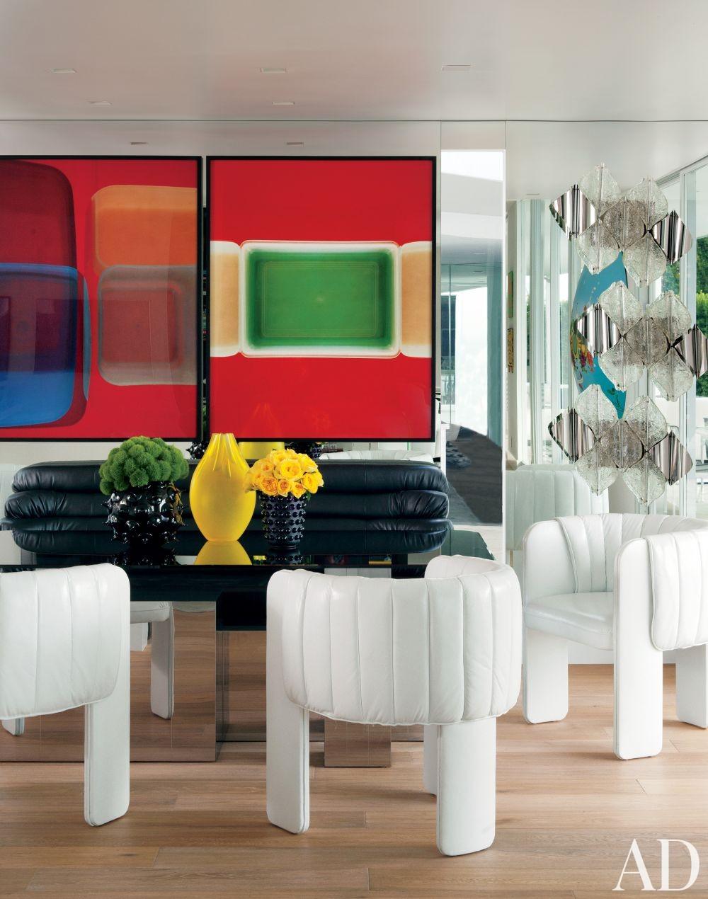Contemporary Dining Room by Martyn Lawrence Bullard Design in Los Angeles, California