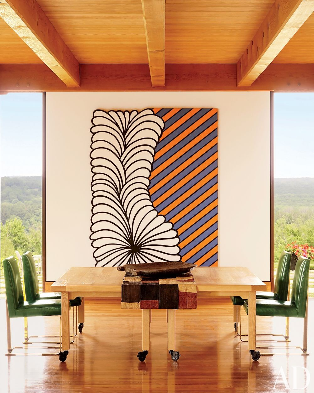 Contemporary Dining Room Ike Kligerman Barkley Architects in Hudson Valley, New York
